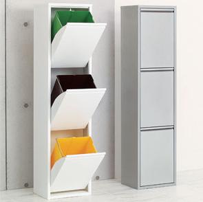 ゴミ箱 分別 スリム 薄型 スチール ごみ箱 ダストボックス 3分別2
